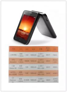 小米手机对比图
